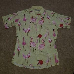 Other - Pink Flamingos Dress Shirt